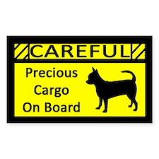 Precious Cargo Chihuahua Sticker (Rect)