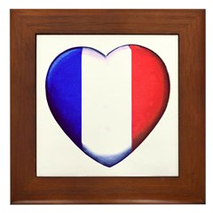 My French Heart Framed Tile