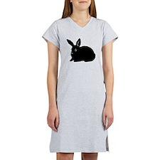Bunny Silhouette Women's Nightshirt