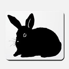 Bunny Silhouette Mousepad