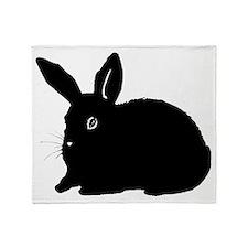 Bunny Silhouette Throw Blanket