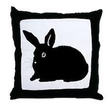 Bunny Silhouette Throw Pillow