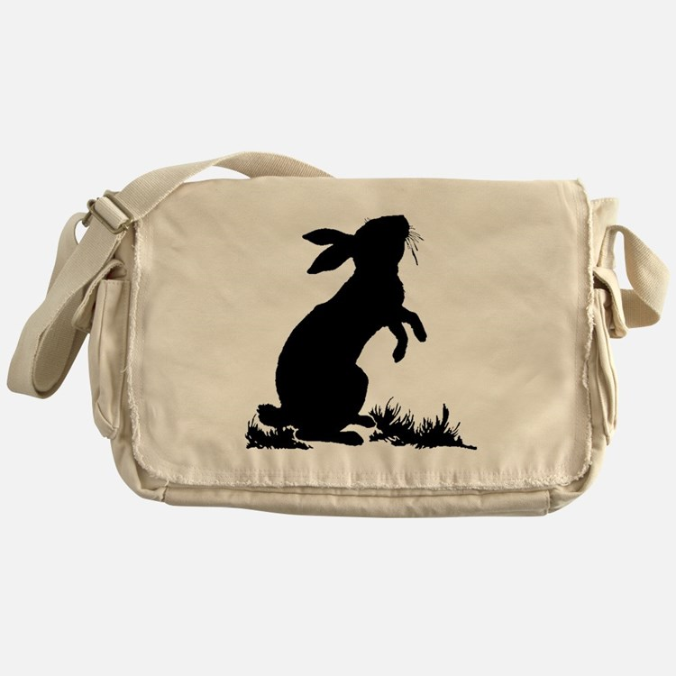 Bunny Silhouette Messenger Bag