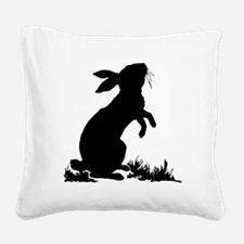 Bunny Silhouette Square Canvas Pillow