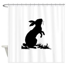 Bunny Silhouette Shower Curtain