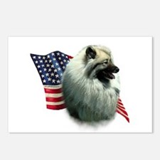 Keeshond Flag Postcards (Package of 8)