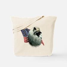 Keeshond Flag Tote Bag