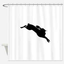 Hare Silhouette Shower Curtain