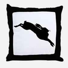 Hare Silhouette Throw Pillow