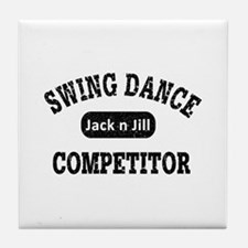 Swing Dance Jack and Jill Competitor Tile Coaster