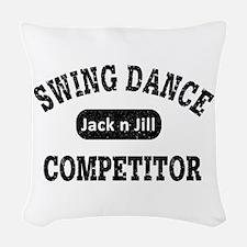Swing Dance Jack and Jill Comp Woven Throw Pillow