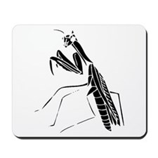Preying Mantis Silhouette Mousepad