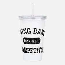 Swing Dance Jack and J Acrylic Double-wall Tumbler
