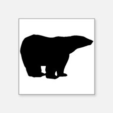 Polar Bear Silhouette Sticker