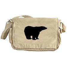 Polar Bear Silhouette Messenger Bag