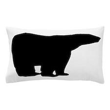 Polar Bear Silhouette Pillow Case