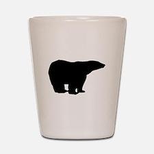 Polar Bear Silhouette Shot Glass