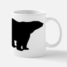 Polar Bear Silhouette Mugs