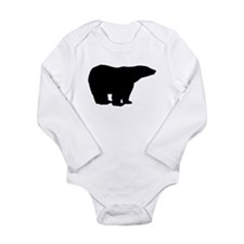 Polar Bear Silhouette Body Suit