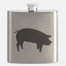 Pig Silhouette Flask