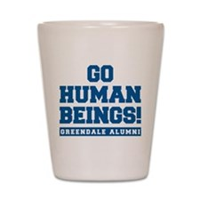 Go Human Beings Shot Glass