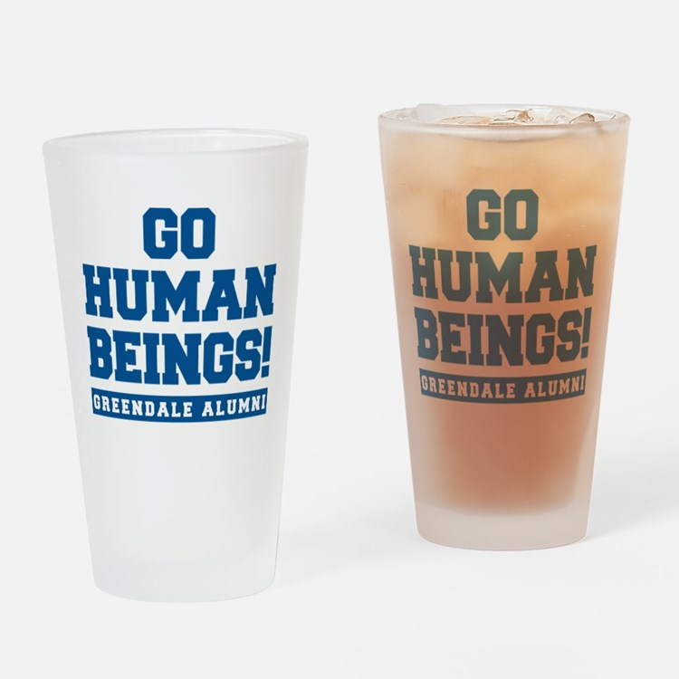 Go Human Beings Drinking Glass
