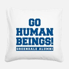 Go Human Beings Square Canvas Pillow