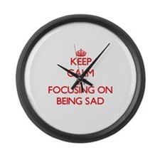 Being Sad Large Wall Clock