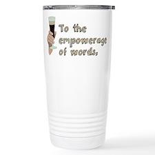 Empowerage of Words Travel Mug