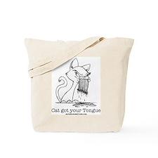 Cat Tongue Tote Bag