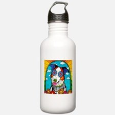 Benny the Border Colli Water Bottle