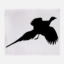 Pheasant Silhouette Throw Blanket