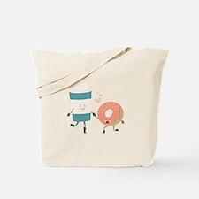 Coffe & Doughut Tote Bag