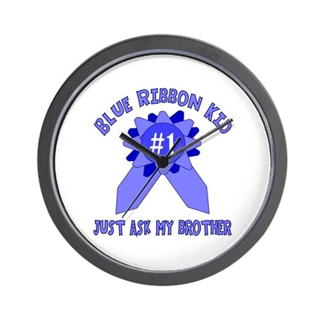 Blue Ribbon Kid--Ask Brother Wall Clock