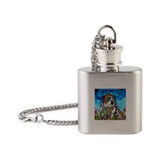 Lou the Bulldog Flask Necklace