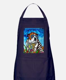 Lou the Bulldog Apron (dark)
