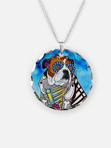 Lou the Bulldog Necklace