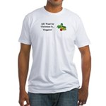 Christmas Veggies Fitted T-Shirt