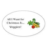 Christmas Veggies Sticker (Oval 10 pk)