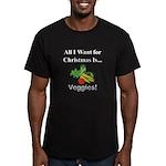 Christmas Veggies Men's Fitted T-Shirt (dark)