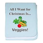 Christmas Veggies baby blanket