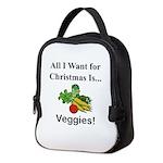 Christmas Veggies Neoprene Lunch Bag