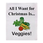 Christmas Veggies Throw Blanket