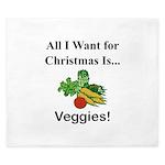 Christmas Veggies King Duvet
