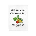 Christmas Veggies 5'x7'Area Rug