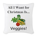 Christmas Veggies Woven Throw Pillow