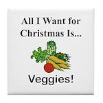 Christmas Veggies Tile Coaster