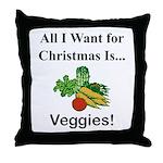 Christmas Veggies Throw Pillow
