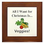 Christmas Veggies Framed Tile