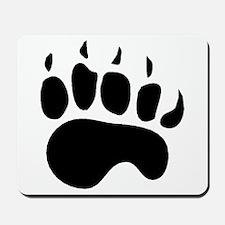 Bear Paw Silhouette Mousepad